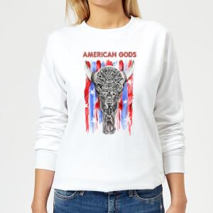American Gods Skull Flag Women's Sweatshirt - White