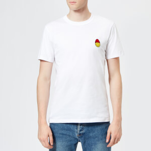 AMI Men's Smiley Patch T-Shirt - White