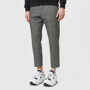 AMI Men's Carrot Fit Cropped Trousers - Black/Grey