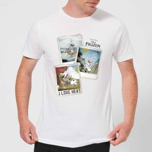 T-Shirt Homme La Reine des Neiges - Polaroid Olaf - Blanc