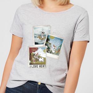 T-Shirt Femme La Reine des Neiges - Polaroid Olaf - Gris