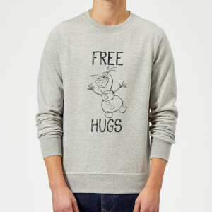 Disney Frozen Olaf Free Hugs Sweatshirt - Grey