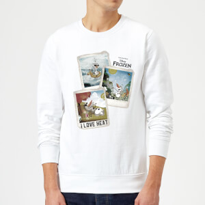 Frozen Olaf Polaroid Sweatshirt - White