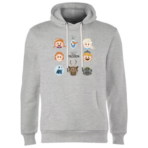 Disney Frozen Emoji Heads Hoodie - Grey