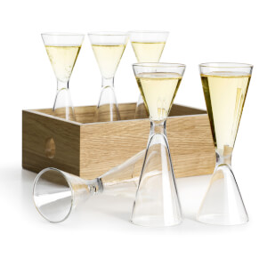 Sagaform Schnapps Set with Oak Box (Set of 6)