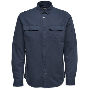 Only & Sons Men's Klaus Long Sleeve Heavy Utility Shirt - Blue Nights