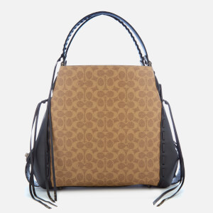 Coach 1941 Women's Coated Canvas Signature Hobo - Tan/Black