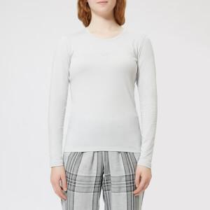 Emporio Armani Women's Basic Cotton Long Sleeve T-Shirt - Silver