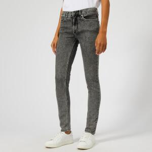 Victoria, Victoria Beckham Women's Mid Rise Skinny Jeans - Black Stone Wash