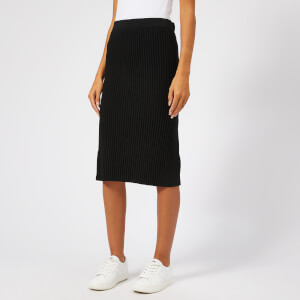 Victoria, Victoria Beckham Women's Ottoman Merino Wool Pull On Skirt - Black