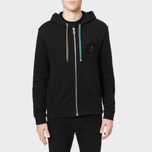 Versace Collection Men's Zipped Hoodie - Nero