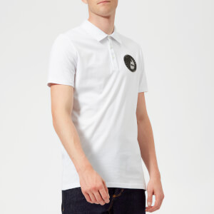 Versace Collection Men's Small Logo Polo Shirt - Bianco