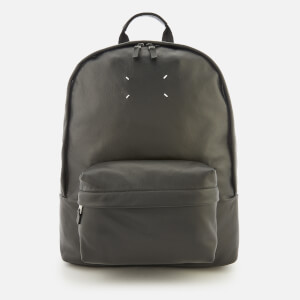 Maison Margiela Men's Leather Backpack - Black