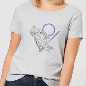 T-Shirt Femme Dessin au Trait Loup-Garou - Harry Potter - Gris