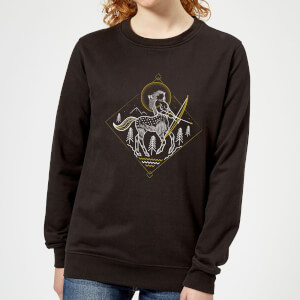 Harry Potter Centaur Line Art Women's Sweatshirt - Black