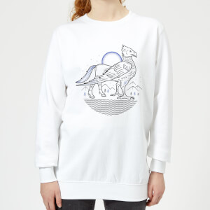 Harry Potter Buckbeak Line Art Damen Pullover - Weiß