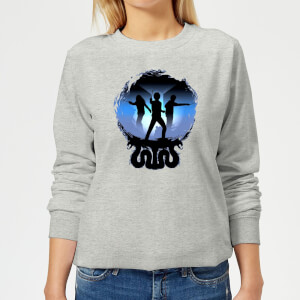 Harry Potter Silhouette Attack Damen Pullover - Grau