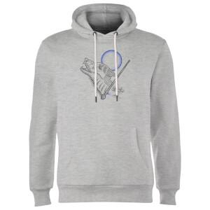 Harry Potter Werewolf Line Art Hoodie - Grey