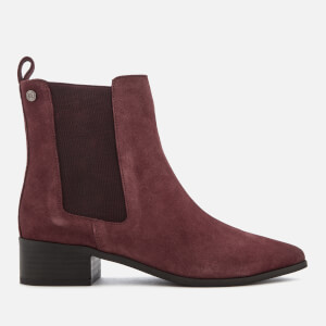 Superdry Women's Zoe Quinn High Chelsea Boots - Oxblood Suede