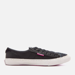 Superdry Women's Low Pro Luxe Trainers - Black Glitter