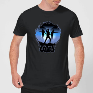 T-Shirt Harry Potter Silhouette Attack - Nero - Uomo