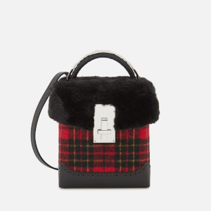 The Volon Women's Great L. Box Fur Bag - Red Check
