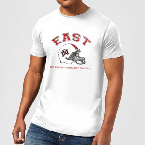 East Mississippi Community College Helmet Men's T-Shirt - White