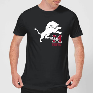 East Mississippi Community College Lion and Logo Men's T-Shirt - Black