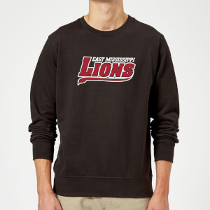 Sweat Homme Logo Lions Script - East Mississippi Community College - Noir