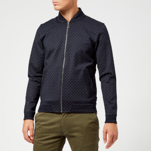 Ted Baker Men's Ruubes Jersey Bomber Jacket - Navy