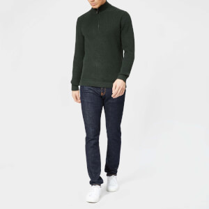 Ted Baker Men's Lohas Half Zip Funnel Knitted Jumper - Dark Green
