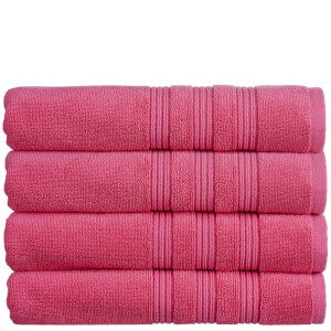 Christy 100% Combed Cotton 4 Piece Towel Bale (675gsm) - Raspberry