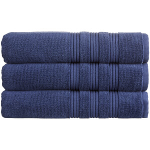 Christy 100% Combed Cotton 4 Piece Towel Bale (675gsm) - Navy