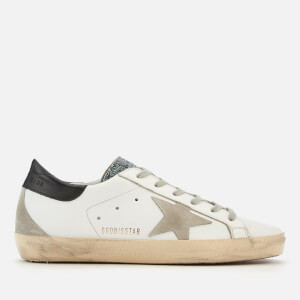 Golden Goose Deluxe Brand Women's Swarovski Superstar Trainers - White/Cosmic Crystal