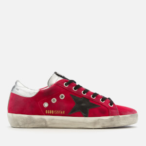 Golden Goose Deluxe Brand Women's Superstar Trainers - Fuxia Velvet/Black Star