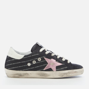 Golden Goose Deluxe Brand Women's Superstar Trainers - Repeated Logo Lurex/Lilla Star
