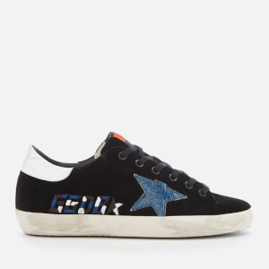 Golden Goose Deluxe Brand Women's Superstar Trainers - Black Velvet/Embroidery