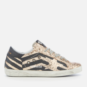 Golden Goose Deluxe Brand Women's Superstar Trainers - Gold Glitter Flag