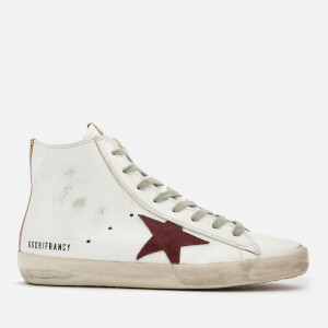 Golden Goose Deluxe Brand Women's Francy Leather Hi-Top Trainers - White/Purple Zip