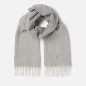 Polo Ralph Lauren Women's Reversible Scarf - Cream/Grey