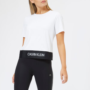 Calvin Klein Performance Women's Short Sleeve Crop Open Back T-Shirt - Bright White
