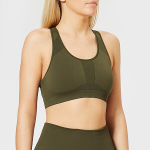Calvin Klein Performance Women's Racerback Sports Bra - Forest Night