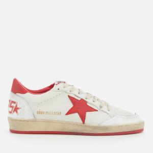 Golden Goose Deluxe Brand Men's Ball Star Sneakers - White/Strawberry
