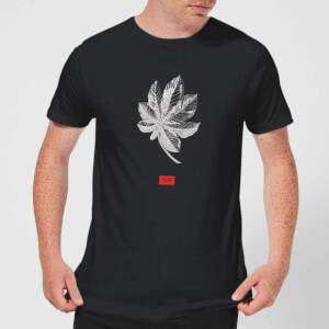 Natural History Museum Tropical Leaf Fashion Print Men's T-Shirt - Black