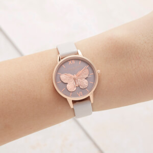 Olivia Burton Women's 3D Butterfly Watch - Blush/Rose Gold: Image 2