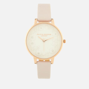 Olivia Burton Women's Artisan Dial Watch - Pearl Paper Effect Blossom/Rose Gold