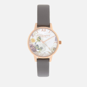 Olivia Burton Women's The Wishing Watch - London Grey & Rose Gold