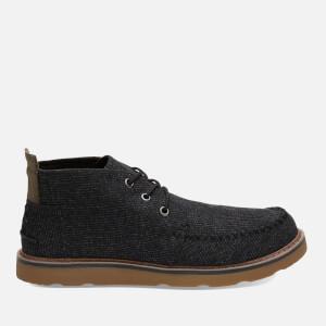 TOMS Men's Woven Chukka Boots - Black