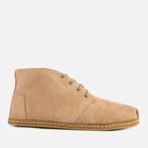 TOMS Men's Bota Suede and Shearling Lace Up Boots - Toffee