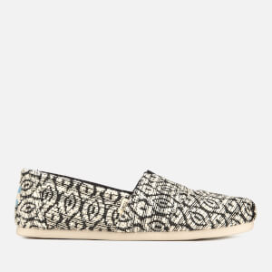 TOMS Women's Diamond Woven Alpargata Pumps - Black